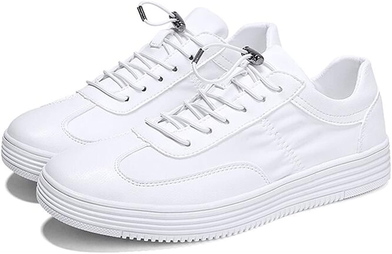 QIDI Casual shoes Male Breathable White Flat Fashion Canvas shoes (color   T-1, Size   EU43 UK9)