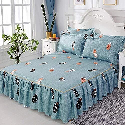 Bett Rock Anzug 3-teiliges Set Spitzenbett Rock Rüschen Bettdecke eingerichtetes...