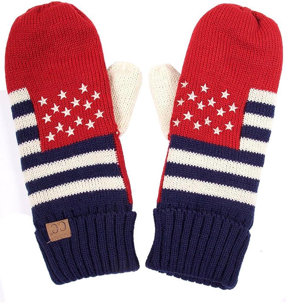 ScarvesMe CC Patriotism American Flag Adult Mitten Gloves