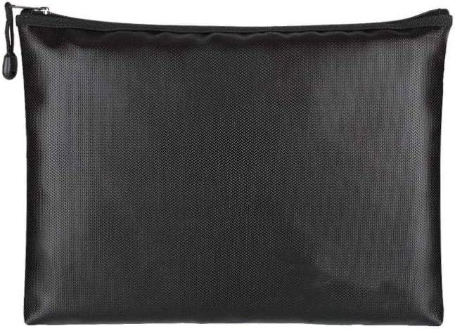 IMIKEYA Fireproof Document Bags Busine Zipper Closure Max 43% OFF Atlanta Mall Fiberglass