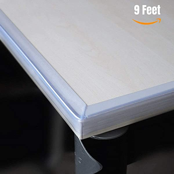 Clear Edge Protectors By The Hamptons Baby 9 1ft Pieces With Premium Gel Adhesive Guard Against Injuries On Sharp Edges In Your House Use On Coffee Dining Tables Dressers Desks And Much More