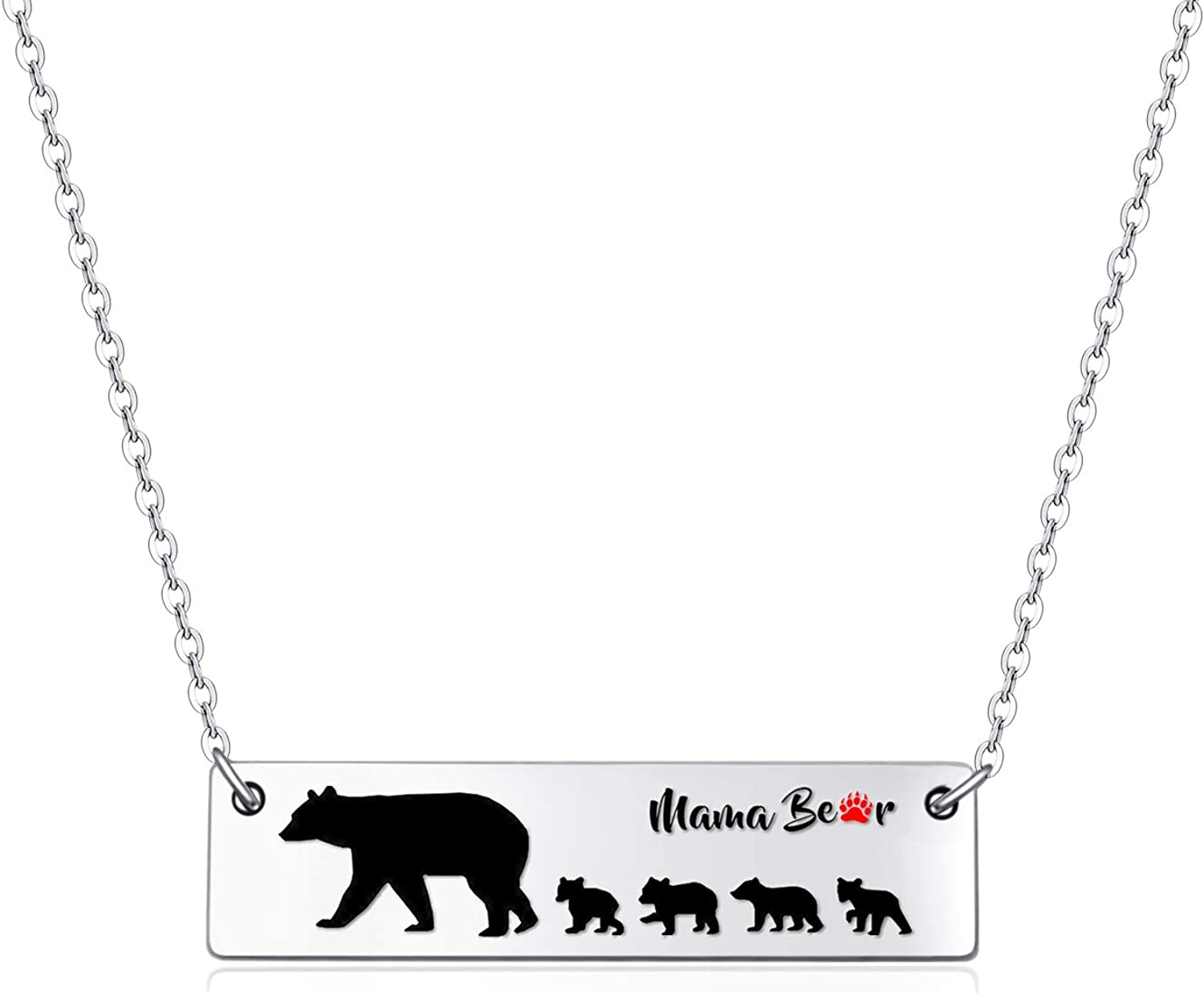 Max 67% OFF Sweet Family Mama Bear Ranking TOP6 and Baby Gift H Pendant Necklace for