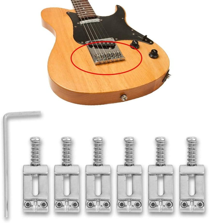 Guitar Bridge String Saddles with to Outlet ☆ Free Shipping Easy safety Chrome Plated Wrench