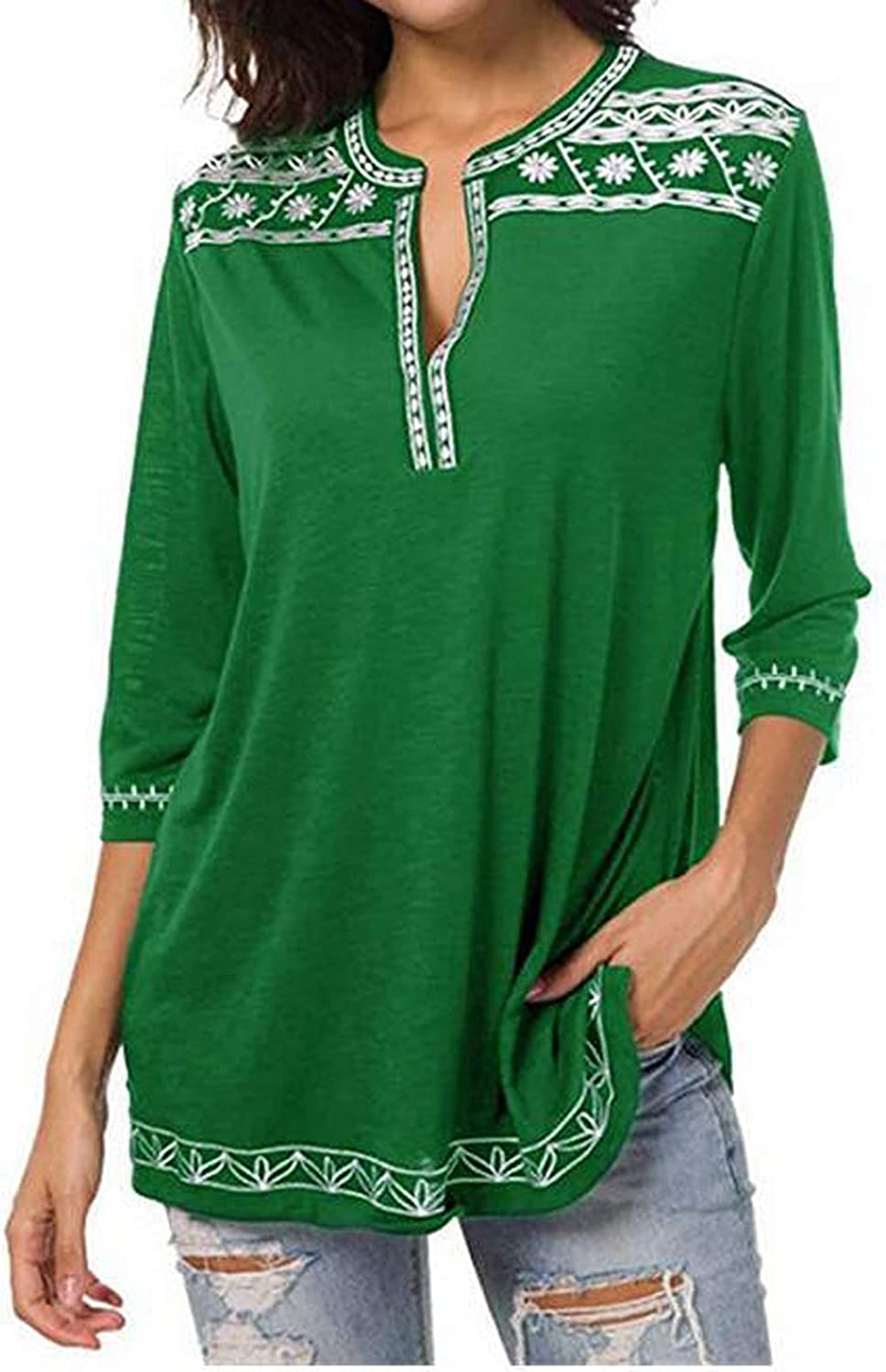 Bengbobar Womens Tops Sexy Deep V New popularity Albuquerque Mall Pullover Loose Neck Fit Blouse