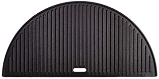 Kamado Joe Classic Joe Half Moon Cast Iron Reversible Griddle, 1, Black