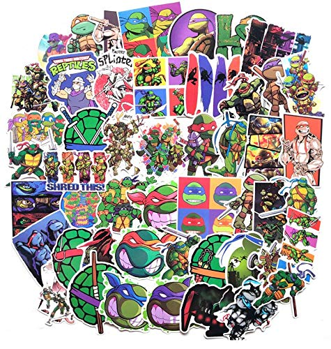 Cartoon Anime Explosive Teenage Mutant Ninja Turtles Graffiti Stickers Suitcase Skateboard Guitar Pvc Car Waterproof Stickers 50 Sheets