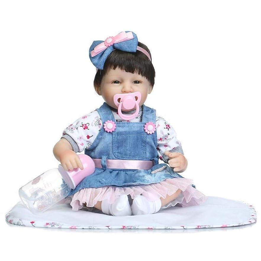 不毛の小学生デジタル女の子のためのリボーン幼児ガールズ3-6月リボーンベビードール42センチメートル幼児サイズリアルな人形クリスマスギフト、ソフビ人形シリコーン新生児人形