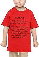 Pipi66xiami Baby Notice This Department Requires No Fitness Program, Unisex Infants Crew Neck Short Sleeve Tee