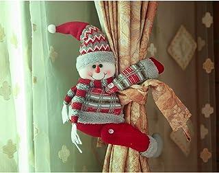 TAIPPAN - Hebilla para cortina de Navidad, diseño de muñecas, decoración navideña, adorno de Navidad, clip para ventana