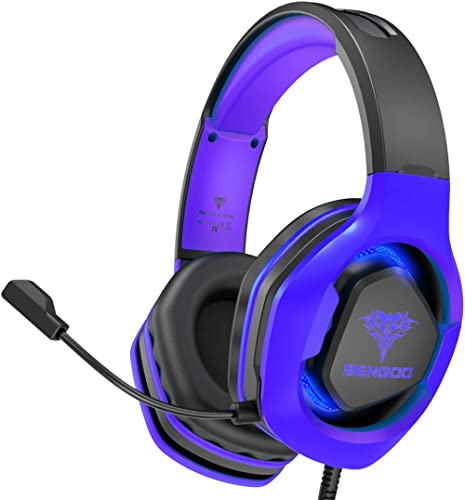 BENGOO G9500 Gaming Headset Headphones for PS4, Xbox One, PC Controller, Over Ear Headphones with 720°Noise Cancellin...