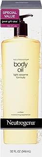 Neutrogena Lightweight Body Oil for Dry Skin, Sheer Moisturizer in Light Sesame Formula, 32 fl. oz