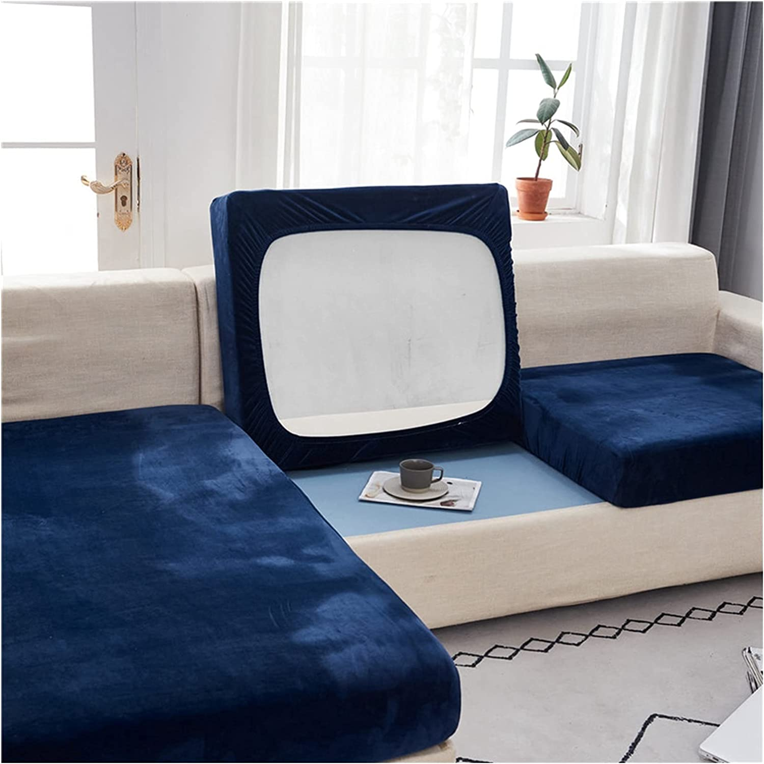 DGFDS Sofa Cover Plush Soft Elastic Seat Couch NEW before Year-end annual account selling ☆