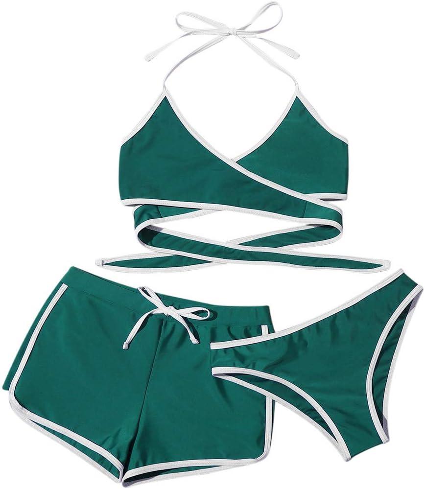 GTYX Womens Three-Piece Bikini Sets Push-Up Cross Rare Direct sale of manufacturer Swimwear Criss