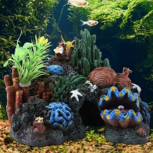 Acquario Rocce Artificiali Pietre sospese per Fish Tank Landscape Decoration Ornamento dell'acquario Mountain View Landscape