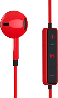 Energy Sistem Earphones 1 Bluetooth Red(Bluetooth, earbud, control talk, 5 hours battery life, flat cable)