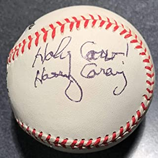 Harry Caray Signed Autograph ONL Baseball PSA/DNA Authenticated Cubs Holy Cow Inscription