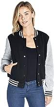 Ci Sono Women's Classic Casual Varsity Baseball Long Sleeve Bomber Biker Jacket