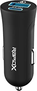 X2PD Compact & Fast Dual Car Charger with 30W USB-C PD - Black