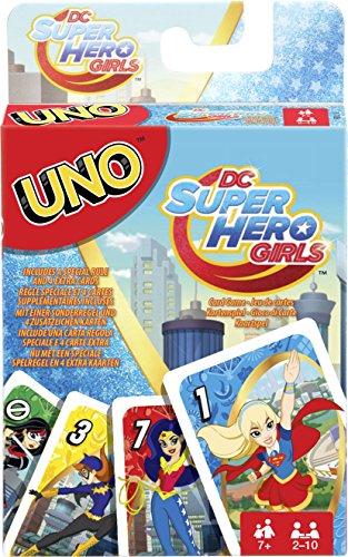 Mattel Juegos fdj16–Uno DC Superhero Girls, Tarjeta Juegos