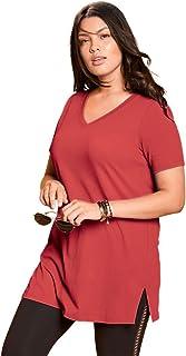 4922b26072db8 Roamans Women s Plus Size V-Neck Maxi Tunic