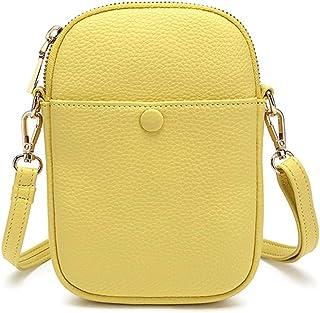 Borsa per telefono cellulare da donna piccola borsa con cerniera per le ragazze sacchetto del telefono delle signore borsa...