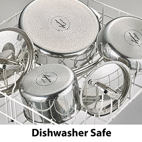 Lagostina Q940SC64 Tri-Ply Stainless Steel Multiclad Dishwasher Safe Oven Safe Metal Lid Cookware Set , 12-Piece, Silver