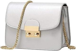 Women Leather Handbags Chain Solid Shoulder Bag Mini Bags Messenger Bag Purses and Handbags