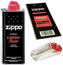 Zippo Recharge d'essence pour briquet + mèche + 6 pierres 125 ml