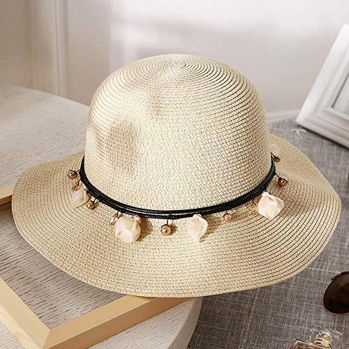 ZXL hoed - vrouwen strohoed zomer vouwen kleine frisse zonnehoed buiten vakantie strand hoed vizier (4 kleuren) Lady zonnehoed (kleur: # 1) #3