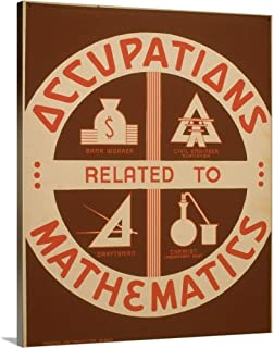Occupations Related to Mathematics - WPA Poster Canvas Wall Art Print, 24