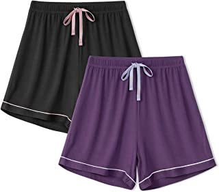 Femofit Pajama Shorts for Women 2 Pack Bamboo Sleep Shorts Lounge Shorts Women Sleep Bottoms S~XL