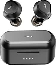 TOZO NC7 Hybrid Active Noise Cancelling Wireless Earbuds, ANC, in-Ear Detection Headphones IPX6 Waterproof Bluetooth 5.0 T...