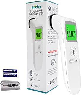 Arrise No-Touch Forehead Thermometer, Digital Infrared Thermometer for Adults and Kids, Touch less Baby Thermometer with 3...