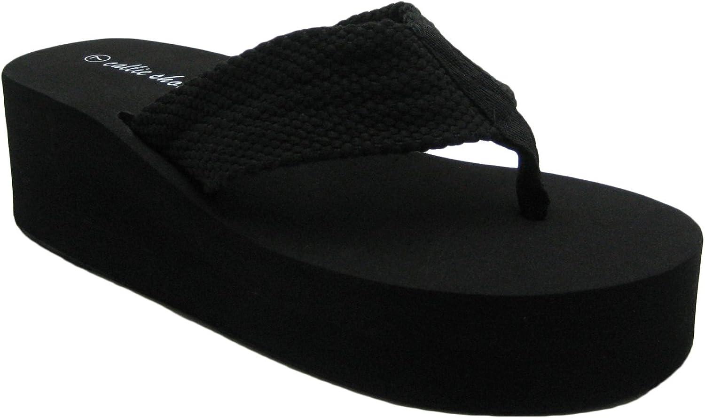 ShoesCallie Platform Flip-Flop Cute & Comfy Thong Sandals