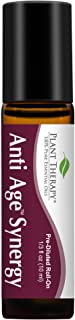 Plant Therapy Anti Age Synergy Pre-Diluted Essential Oil Roll-On 10 mL 100% Pure, Therapeutic Grade