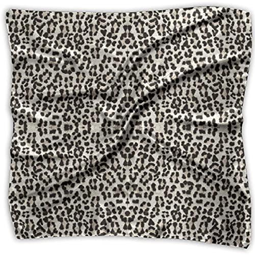 Uridy Pañuelo cuadrado elegante para mujer, cuello pañuelo para la cabeza, leopardo más grande y mejor