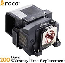 Araca ELPLP85 Replacement Projector Lamp with Housing for Epson EH-TW6700 TW6600W TW6600 PowerLite HC 3000 3100 3500 3600e 3700 3900 TW6800 Projector