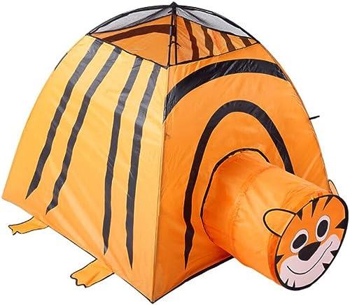 LIAN Kinder Spielen Zelt Cartoon Tunnel Baby Spiel Haus Outdoor Falten mesh Spielzeug Schloss (Orange 45,3  45,3  45,3 Zoll verpackung von 1)