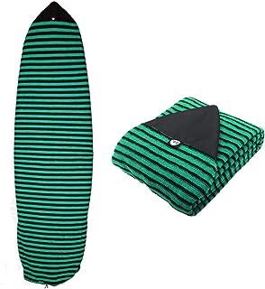 Ultrafun Surf Board Sock Cover Strentch Knit Point Nose Surfboard Sock Bag 6ft/6.6ft/7ft/8ft