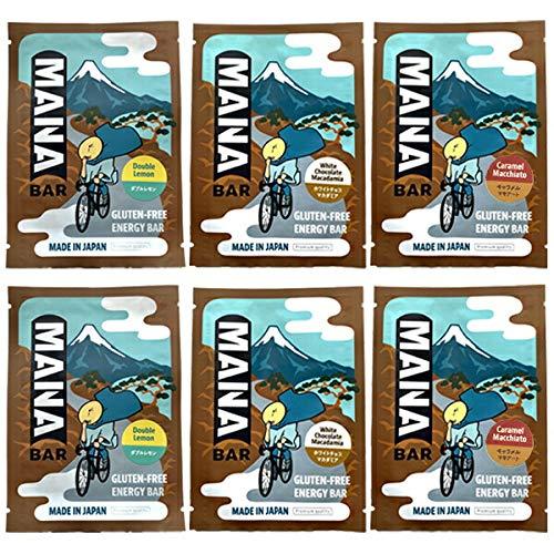 MANABAR マナバー エナジーバー 3味6本セット(ホワイトマカダミア味、ダブルレモン味、キャラメルマキアート味) 【登山 マラソン ランニング トレイルランニング トライアスロン 行動食 補給食 グルテンフリー】