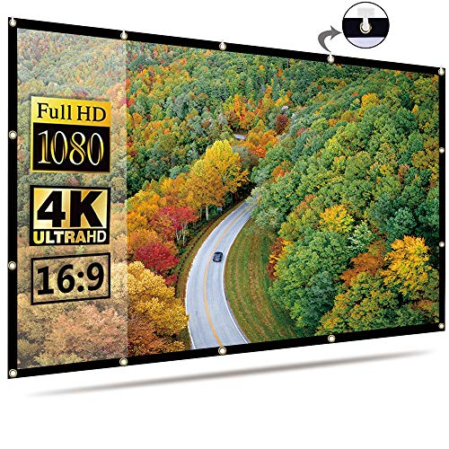 OWill Projector Screen 16:9 HD Foldable for Home Theater Cinema Indoor...