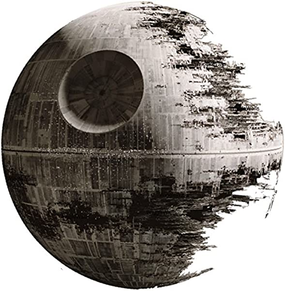 9 Inch Death Star Imperial Galatic Empire Sith Emperor Dark Side Deathstar Star Wars Classic Episode IV Removable Wall Decal Sticker Art Home Decor Kids Room 9 Inches Wide By 9 Inches Tall