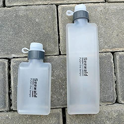 SDGSDG Protección del medio ambiente Botella deportiva sin BPA/Copa de agua extruida al aire libre-White_300ml/ Botella de agua deportiva para gimnasio, viajes