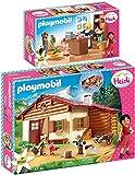 geobra Brandstätter PLAYMOBIL® Heidi Juego de 2 Piezas 70253 70257 Heidi en la Cabaña de los Alpes + Tienda Familia Keller