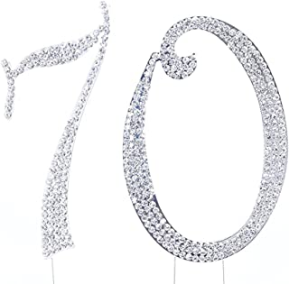 Rhinestone Cake Topper Number 70 by other