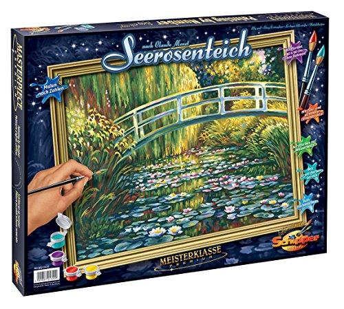 Schipper 609130620 - Malen nach Zahlen - Seerosenteich nach Claude Monet - Bilder malen für Erwachsene, inklusive Pinsel und Acrylfarben, 40 x 50 cm