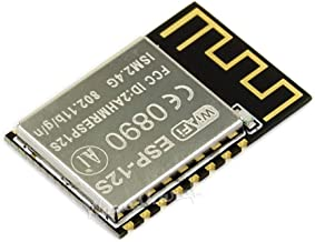 ESP-12S WiFi Module Based on ESP8266 Built-in 32Mbit Flash Small SMD16 Package ntegrates MCU Inside Supports Lua/Micropython/Arduino to Achieve Flexible and Fast prototyping