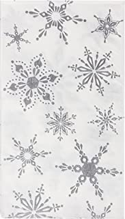 Cypress Home Silver Snowflakes Embossed Paper Guest Towel, 15 count