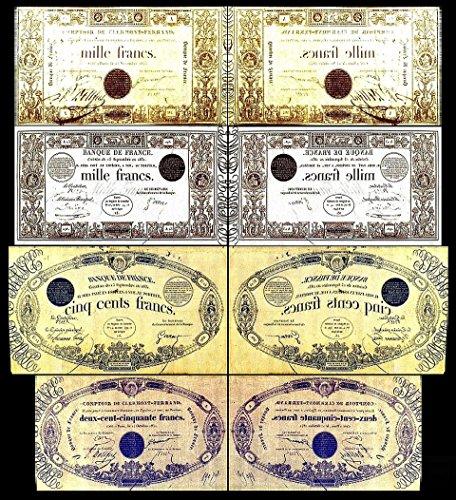 *** 250,500,1000,1000 französische Francs - Ausgabe 1831 - 1846 - alte Währung - Reproduktion ***