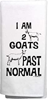 ThisWear Funny Goat Gifts I Am 2 Goats Past Normal Goat Related Gifts Goat Kitchen Decor Goat Kitchen Towel White